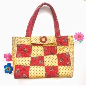 True Vintage🌸60s Flower Power Quilted Tote!